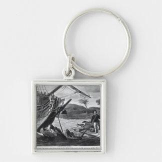 Robinson Crusoe carrying away Keychain