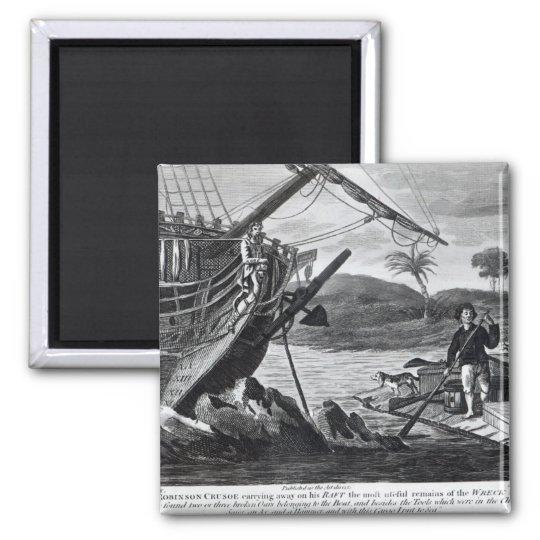 Robinson Crusoe carrying away Magnet