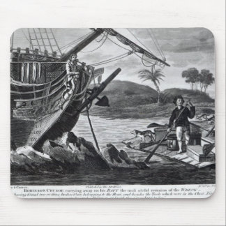 Robinson Crusoe carrying away Mouse Pad