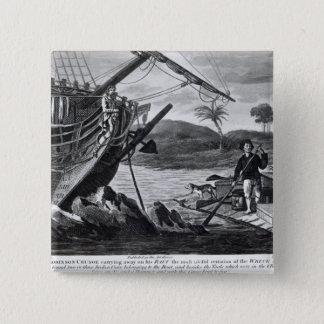 Robinson Crusoe carrying away Pinback Button