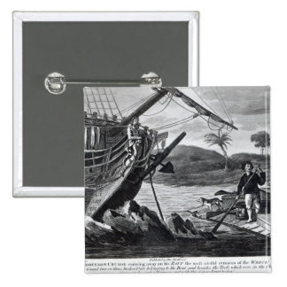 Robinson Crusoe carrying away Pinback Button