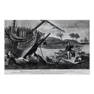 Robinson Crusoe carrying away Poster