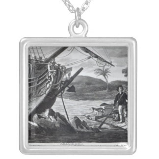 Robinson Crusoe carrying away Silver Plated Necklace