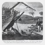 Robinson Crusoe carrying away Square Sticker