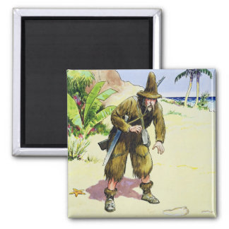 Robinson Crusoe, from 'Peeps into the Past', publi Magnet