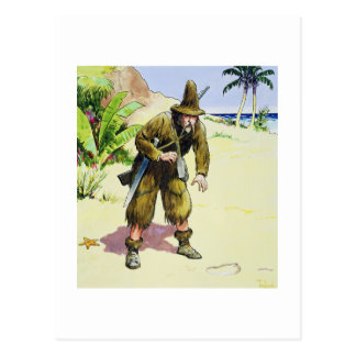 Robinson Crusoe, from 'Peeps into the Past', publi Postcard