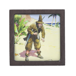 Robinson Crusoe, from 'Peeps into the Past', publi Premium Jewelry Boxes