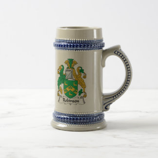 Robinson Family Crest Beer Stein