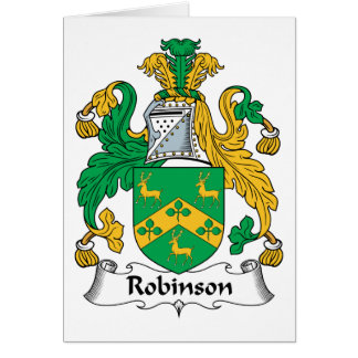 Robinson Family Crest Card