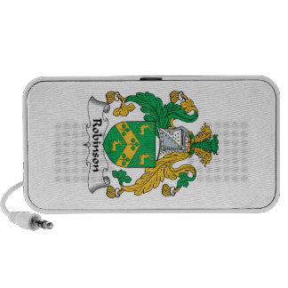 Robinson Family Crest Notebook Speakers