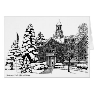 Robinson Hall, Albion College notecard Cards