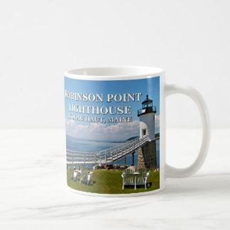 Robinson Point Lighthouse, Isle Au Haut, Maine Mug