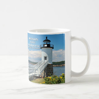 Robinson Point Lighthouse, Isle Au Haut, Maine Mug