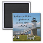 Robinson Point Lighthouse, Maine Magnet Refrigerator Magnets