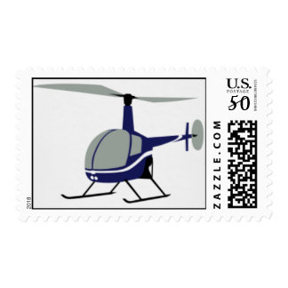 Robinson R22 Helicopter Stamp