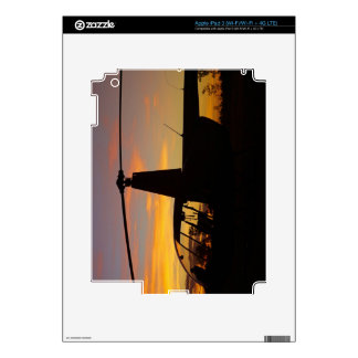 Robinson R44 helicopter at sunset Decals For iPad 3