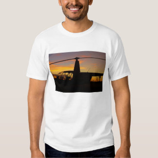 Robinson R44 helicopter at sunset T Shirt