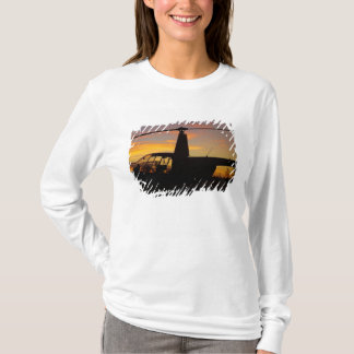 Robinson R44 helicopter at sunset T-Shirt