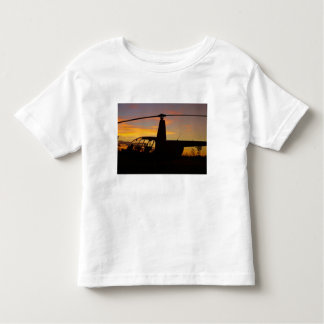 Robinson R44 helicopter at sunset Toddler T-shirt