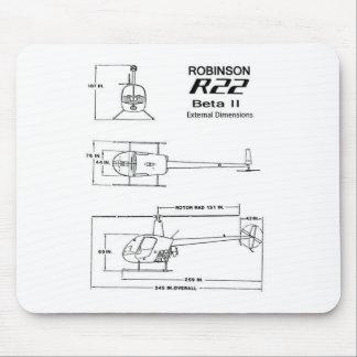 Robinson R-22 Mouse Pad
