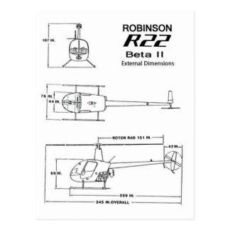 Robinson R-22 Postcards