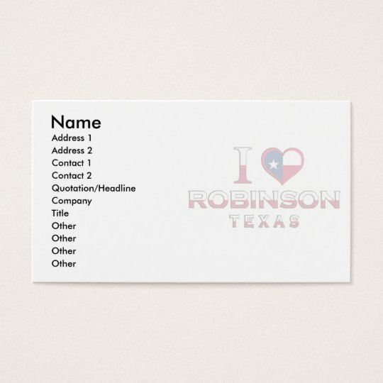 Robinson, Texas Business Card