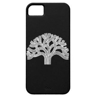 Roble blanco de Oakland en negro iPhone 5 Carcasas
