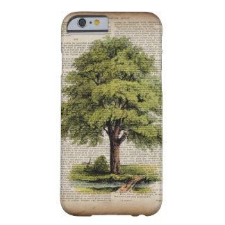 roble botánico del vintage del arte del Día de la Funda De iPhone 6 Barely There