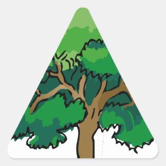 roble calcomanía de triangulo