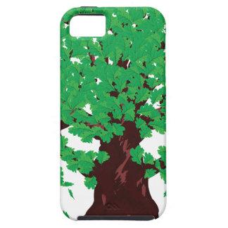 Roble con las hojas verdes funda para iPhone SE/5/5s