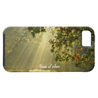 Roble con los rayos de sol de la mañana iPhone 5 Case-Mate protectores