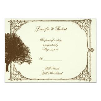 Roble de Brown del vintage en la tarjeta poner Comunicado Personal