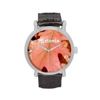 Roble de Estonia Relojes De Pulsera