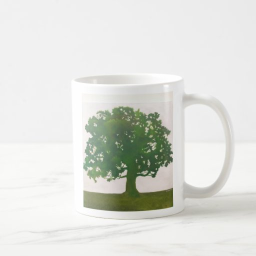 Roble en primavera taza de café