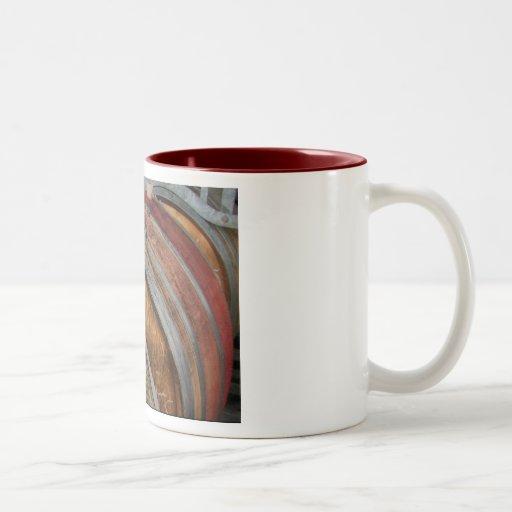 Roble francés taza de café de dos colores