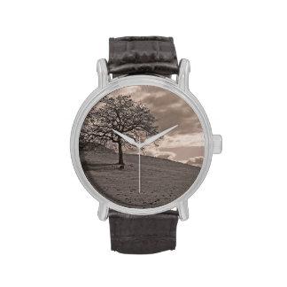 Roble solitario relojes de pulsera