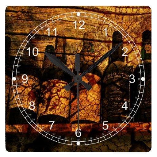 Roble suave reloj cuadrado
