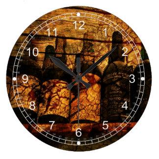 Roble suave reloj redondo grande