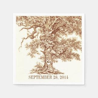 roble viejo - servilletas de papel del árbol de am