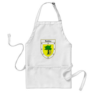 Robles Coat of Arms/Family Crest Adult Apron