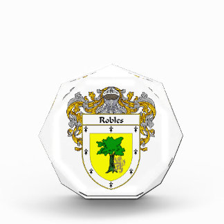 Robles Coat of Arms Family Crest Awards