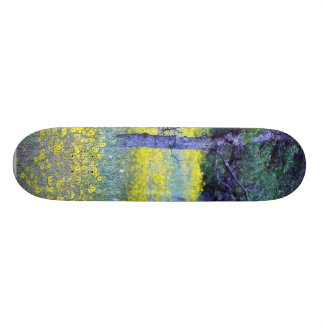 Robles de los bosques de los campos de flores skateboard