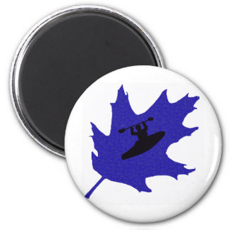 robles del azul del kajak imán redondo 5 cm
