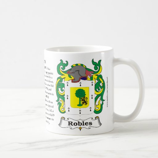 Robles Family Coat of Arms Mug