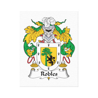 Robles Family Crest Canvas Print
