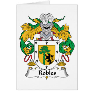 Robles Family Crest Greeting Card