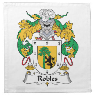 Robles Family Crest Printed Napkin