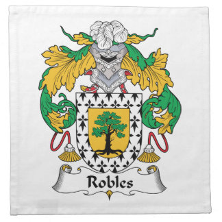 Robles Family Crest Printed Napkins