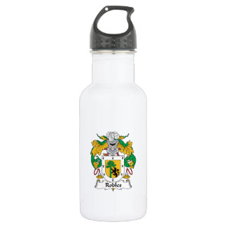 Robles Family Crest 18oz Water Bottle