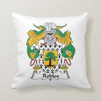 Robles Family Crest Throw Pillows